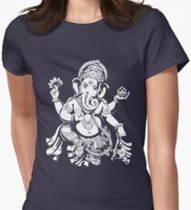 Lord Ganesh for dark colours Women's Fitted T-Shirt