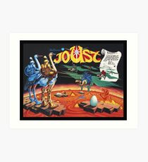 Joust Recreated from Ultra Rare William's Arcade Poster Art Print