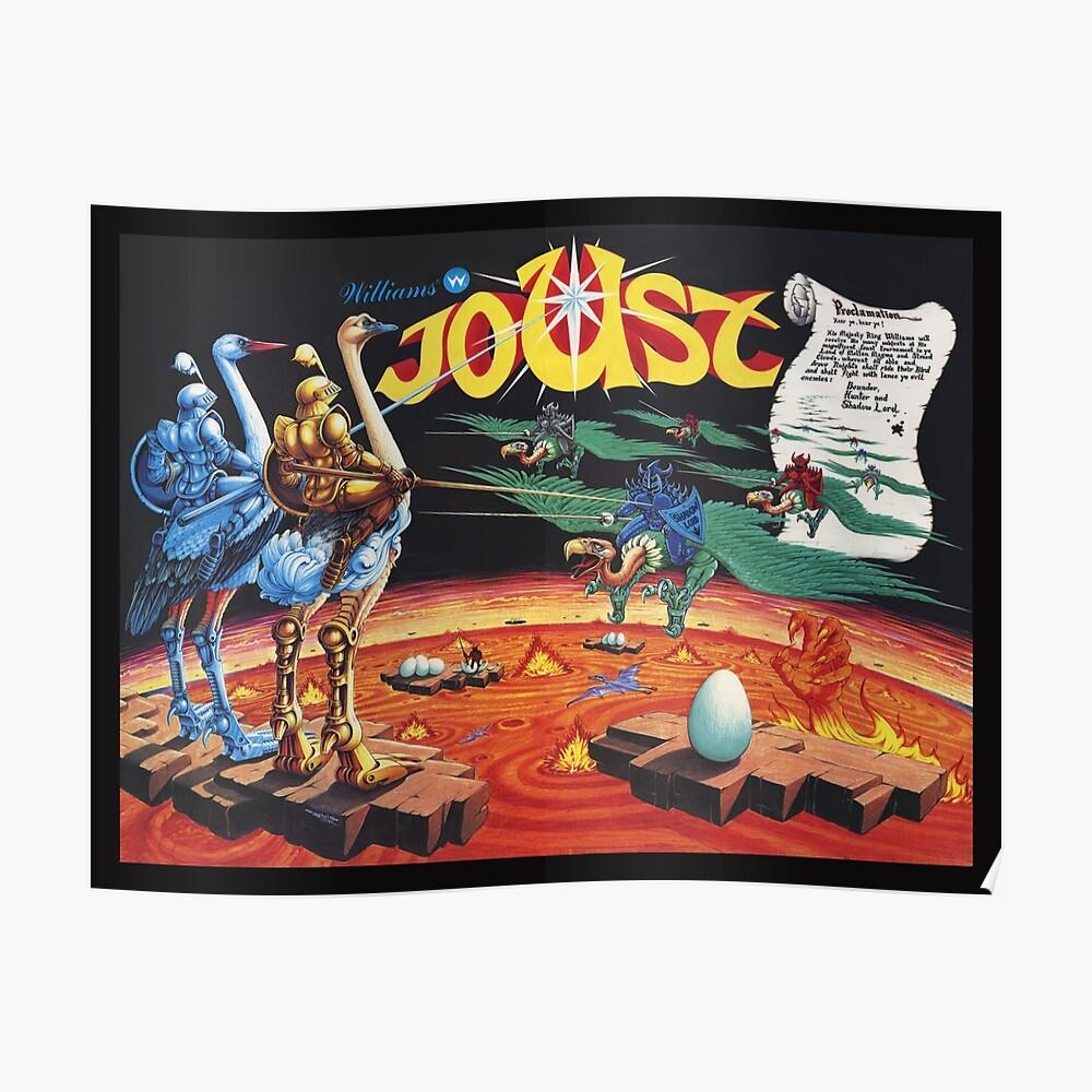 Joust von Ultra Rare Williams Arcade-Poster neu erstellt Poster