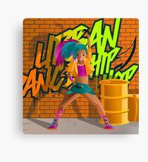 hip hop urban woman dancer in the street Canvas Print