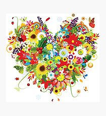 Floral heart Photographic Print