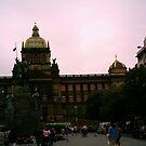 Down Town Prague, Czech Republic by mpeakclewett