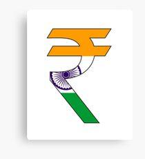 rupee symbol Canvas Print