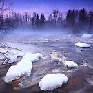 « Winter on river » par Päivi  Valkonen