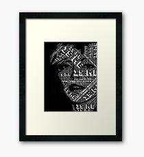 Blondie typography portrait Framed Print