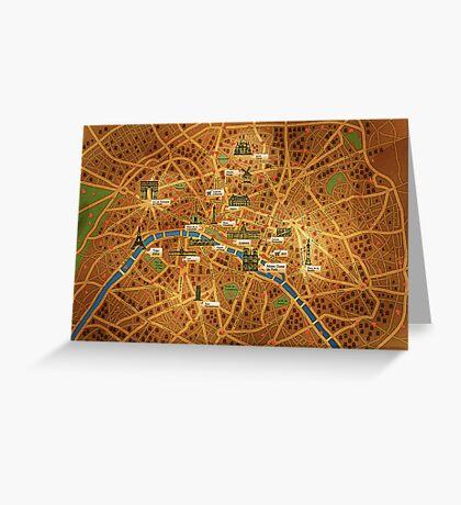Paris Map Greeting Card