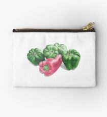 Hyperrealistic Pepper Drawing Zipper Pouch