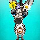 Niedliches Baby Zebra Hippie von jeff bartels