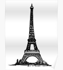 Eiffel Tower Drawing Poster