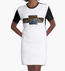 FIND NEW ROADS Graphic T-Shirt Dress