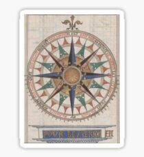 Historical Nautical Compass (1543)  Sticker