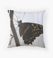 Butterfly Sihouette (Cuba) Throw Pillow
