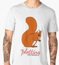 Squirrel Plotting Men's Premium T-Shirt