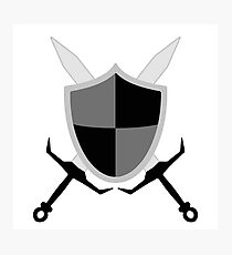 Sword and Shield - Black Photographic Print