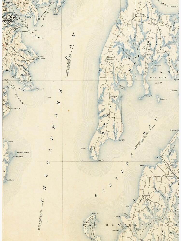 Vintage Annapolis MD & Chesapeake Bay Map (1902)\