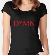 DAMN Album Shirt. Censorship Parody Women's Fitted Scoop T-Shirt