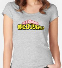 My Hero Academia Logo Women's Fitted Scoop T-Shirt