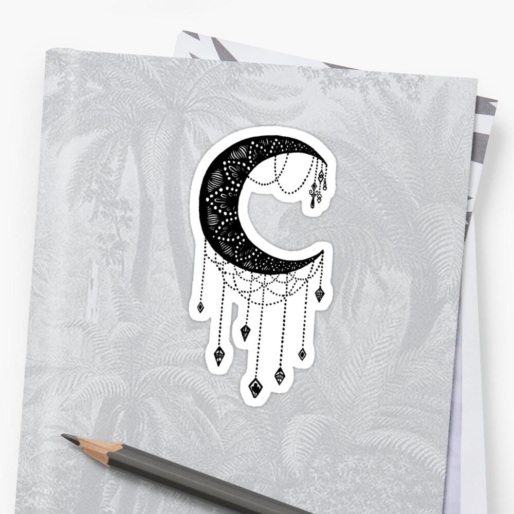 Crescent Moon tattoo design by Carina Kay