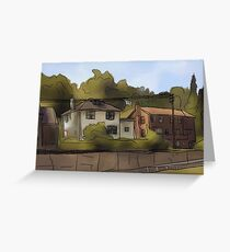 Pittsburgh Houses  Greeting Card