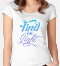 Find the Light Typography Women's Fitted Scoop T-Shirt