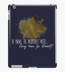He knows the Musketeer's motto... iPad Case/Skin