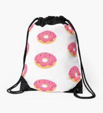 Happy donut Drawstring Bag