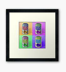 Canned Bread Pop Art Framed Print