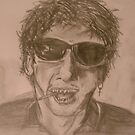 Just A drawing i done bored of my idol shane macgowan by Rob McFall