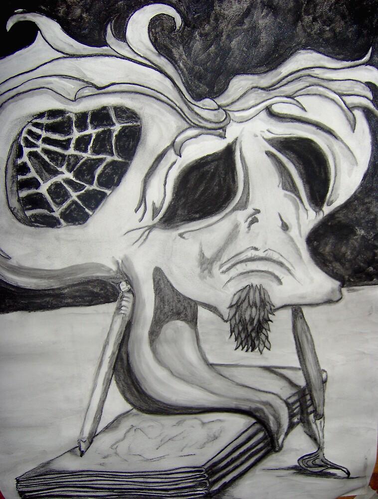 self portrait Dali style by vonsievers