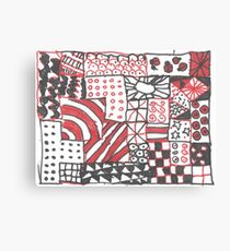Red and Black Blocks Canvas Print