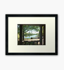 Porch River View  Framed Print