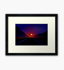 """Railway to the Moon"" Framed Print"