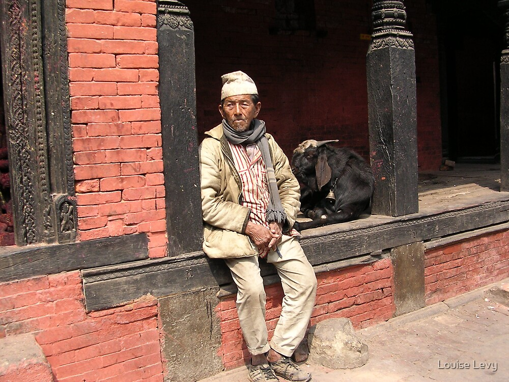 Nepali Man by Louise Levy