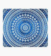 Mandala Blue Photographic Print