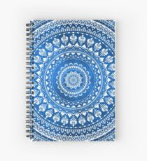 Mandala Blue Spiral Notebook