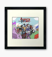 Azeroth time - The Alliance Framed Print