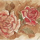 Vintage Coffee Roses by Maree Clarkson
