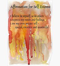 Affirmation for SELF-ESTEEM Poster