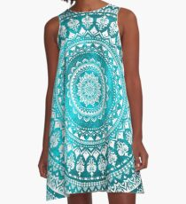 Mandala Turquoise A-Line Dress