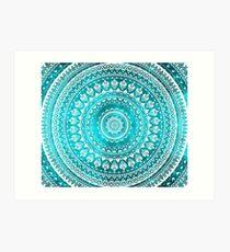 Mandala Turquoise Art Print