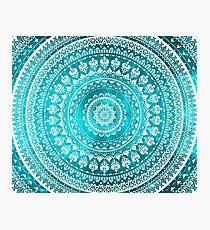 Mandala Turquoise Photographic Print