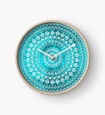 Mandala Turquoise Clock