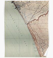 Vintage Map of Venice Beach California (1923)  Poster