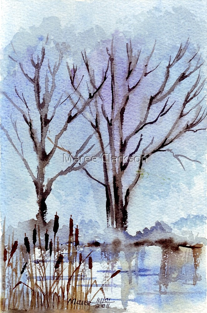 Winter Bullrushes by Maree Clarkson