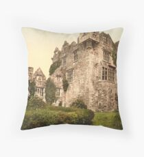 Vintage Photo-Print of Donegal Castle (1900) Throw Pillow