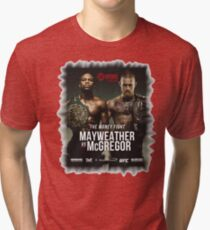 Conor McGregor vs. Floyd Mayweather Tri-blend T-Shirt