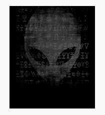 Aliens Heavy Distressed Design Sci-fi UFO Outer Space Photographic Print