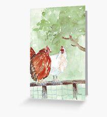 The Chicken Run Greeting Card