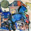 Runaway Blue Pony by RobynLee