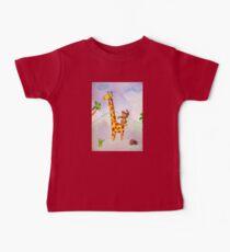 Acrobat animals: monkey jumping on a giraffe Baby Tee